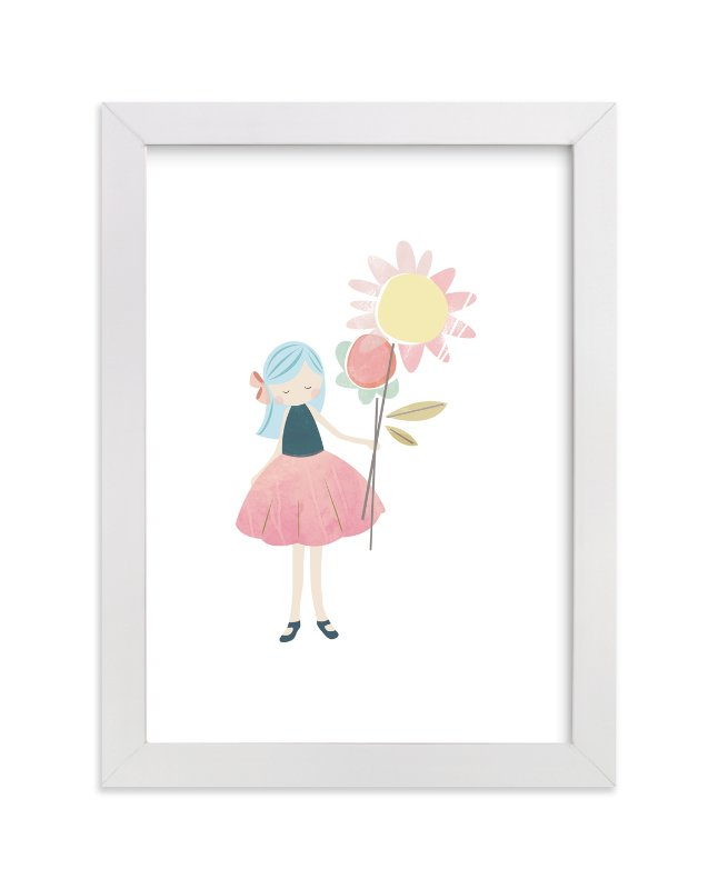 """flower girl"" - Art Print by peetie design in beautiful frame options and a variety of sizes."