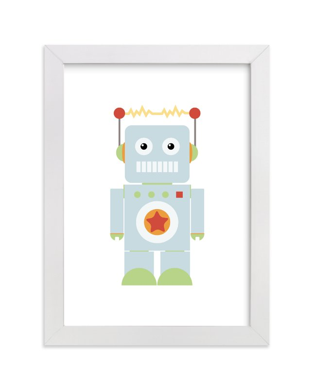 """""""Starbot"""" - Art Print by Dawn Jasper in beautiful frame options and a variety of sizes."""