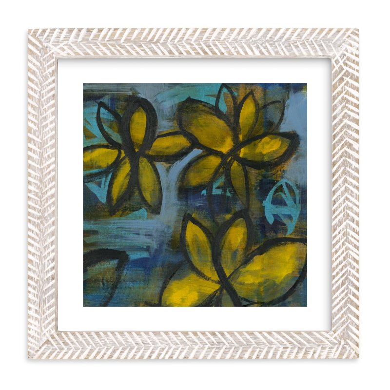 """Shining Flowers Series 2"" - Art Print by Angela Simeone in beautiful frame options and a variety of sizes."