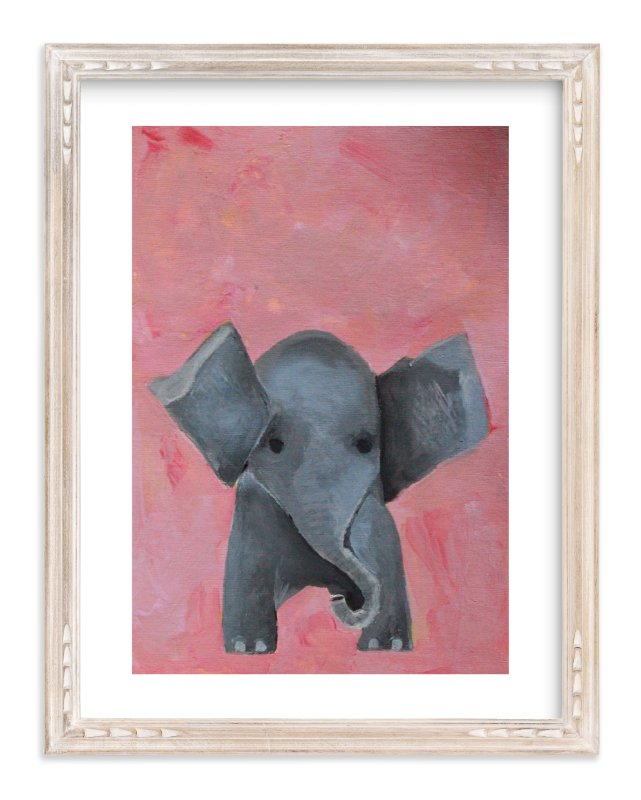 """""""Ellie the Elephant """" - Art Print by Art by Megan in beautiful frame options and a variety of sizes."""