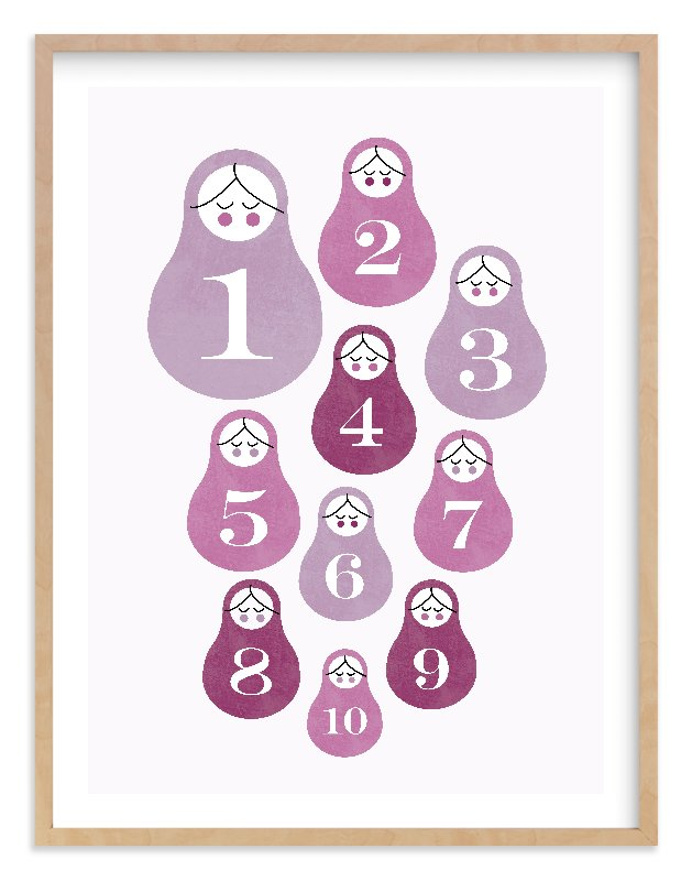 """""""Counting Babushka Babies"""" - Art Print by Bonjour Berry in beautiful frame options and a variety of sizes."""