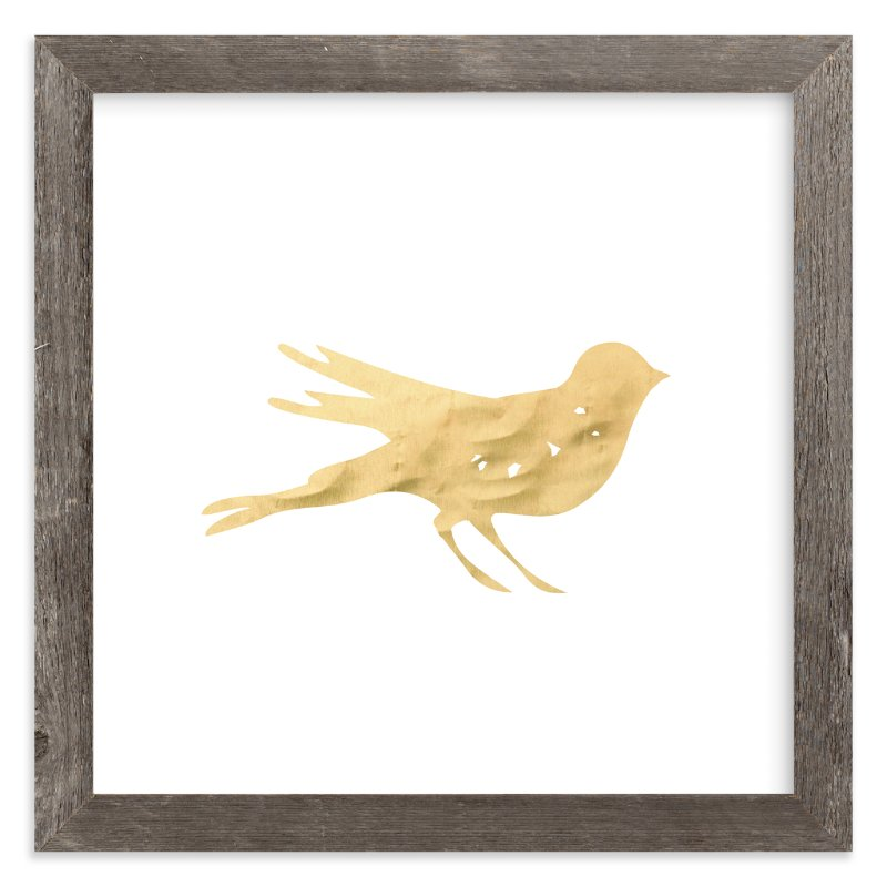 """""""Here Birdie Birdie"""" - Art Print by hey paper moon in beautiful frame options and a variety of sizes."""