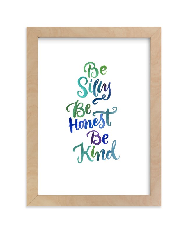 """Be Silly"" - Art Print by Laura Bolter Design in beautiful frame options and a variety of sizes."