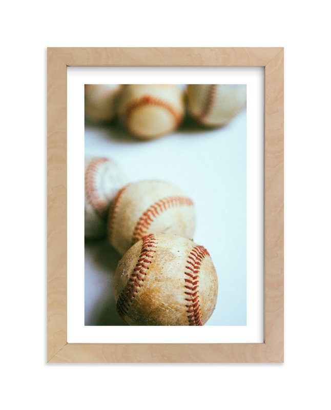 """no hitter"" - Art Print by Morgan Kendall in beautiful frame options and a variety of sizes."