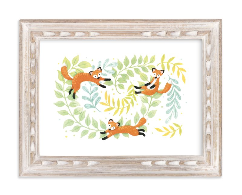 """""""Red Foxes"""" - Art Print by Four Wet Feet Studio in beautiful frame options and a variety of sizes."""