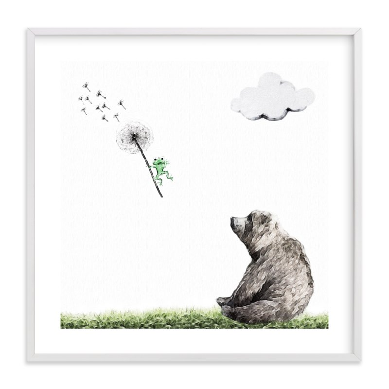 """""""Chance of rain and random tornado"""" - Art Print by Maja Cunningham in beautiful frame options and a variety of sizes."""