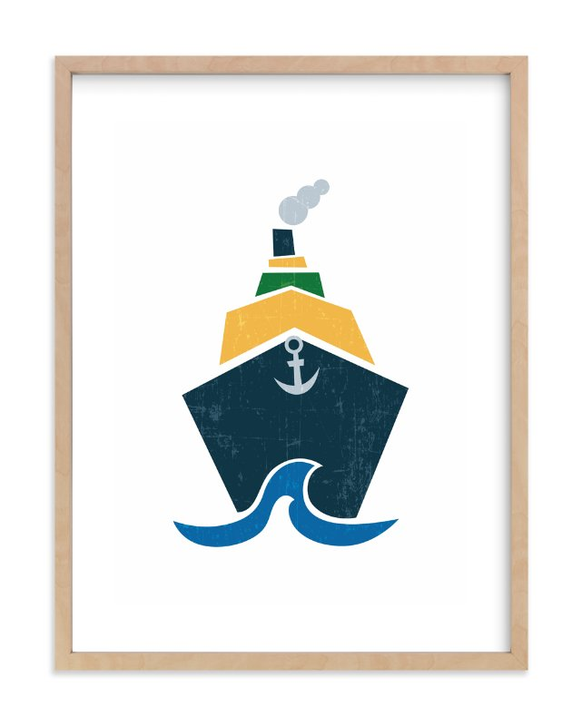 """Stacked Boat"" - Art Print by Jennifer Morehead in beautiful frame options and a variety of sizes."