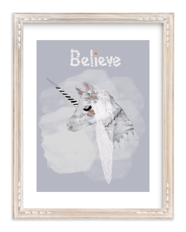 """ BELIEVE "" - Art Print by Acadreamia Designs in beautiful frame options and a variety of sizes."