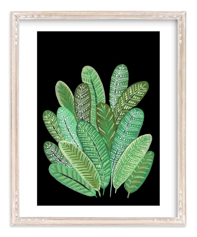 """Banana Leaf Bouquet II"" - Art Print by Madeline Trait in beautiful frame options and a variety of sizes."