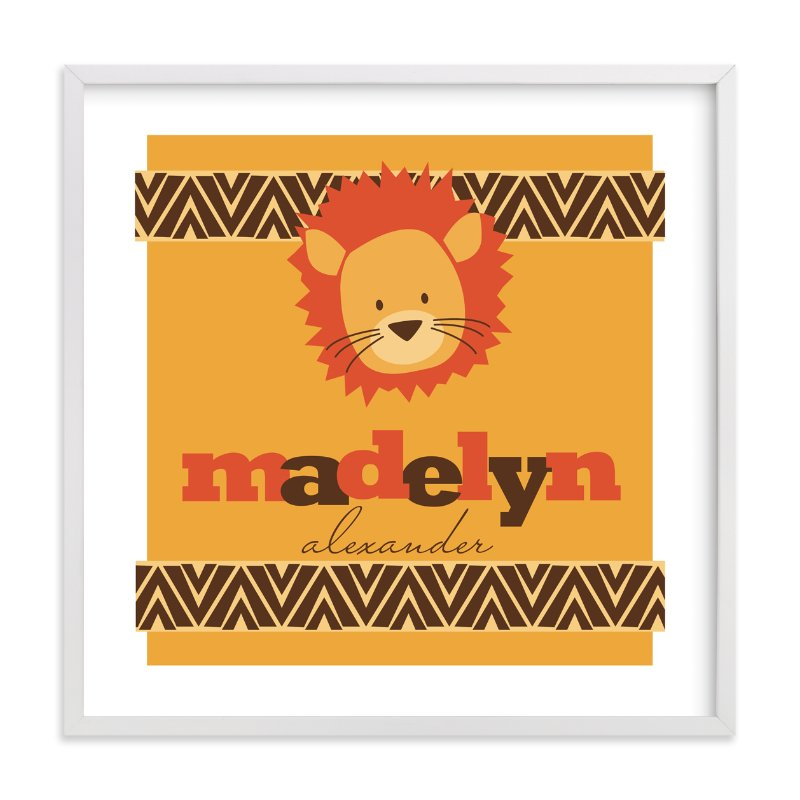 """Roar!"" - Nursery Custom Art Print by Loree Mayer in beautiful frame options and a variety of sizes."