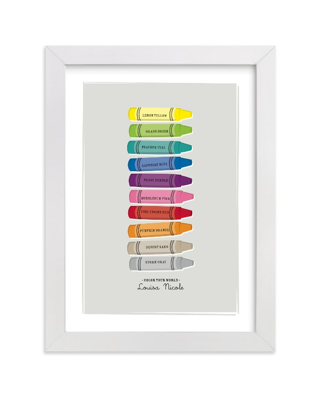 """""""Color Your World"""" - Nursery Custom Art Print by Ann Gardner in beautiful frame options and a variety of sizes."""