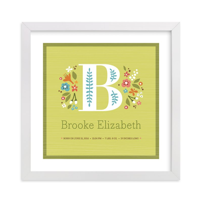 """""""Storybook Initial"""" - Nursery Custom Art Print by Jennifer Wick in beautiful frame options and a variety of sizes."""
