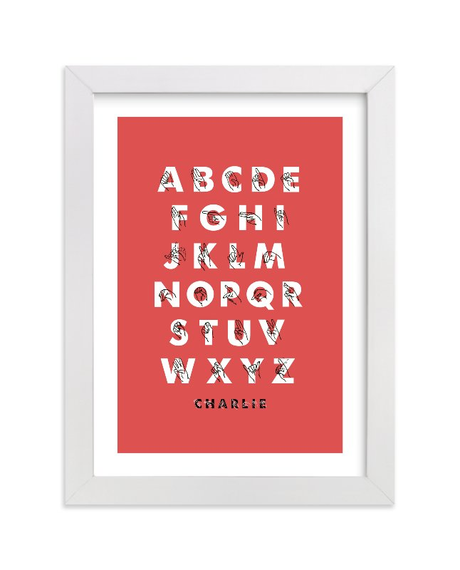 """""""Signed ABCs"""" - Nursery Custom Art Print by ERAY in beautiful frame options and a variety of sizes."""