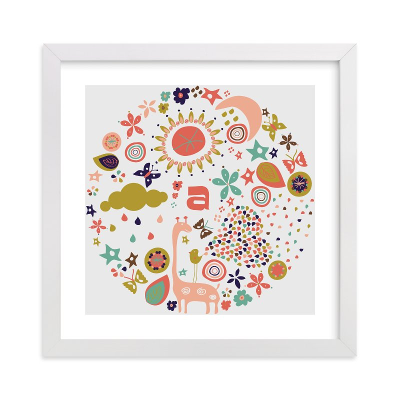 """""""Baby Allegoria"""" - Nursery Custom Art Print by Bonjour Paper in beautiful frame options and a variety of sizes."""