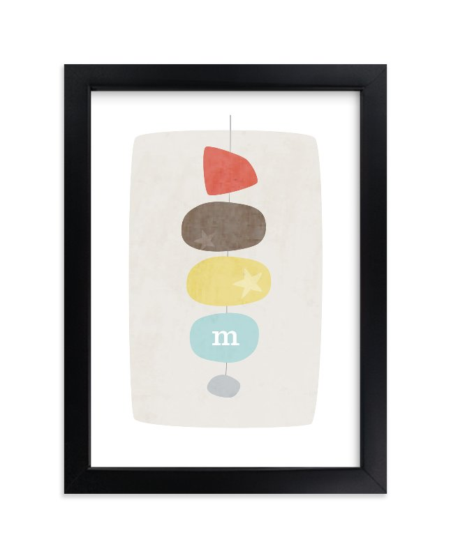 """""""Mid-Century Monogram"""" - Nursery Custom Art Print by Stacey Meacham in beautiful frame options and a variety of sizes."""