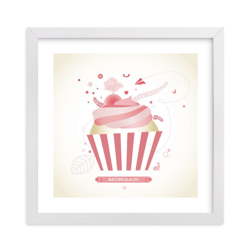"""""""Cupcake Landscape"""" - Nursery Custom Art Print by Diana Steinsnyder in beautiful frame options and a variety of sizes."""