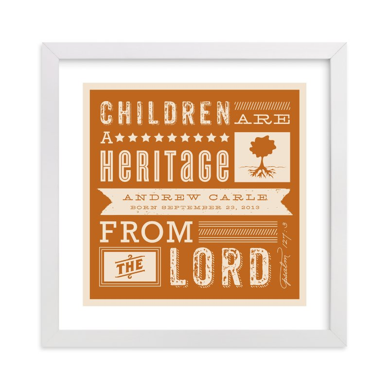 """""""Heritage Children"""" - Nursery Custom Art Print by Lehan Veenker in beautiful frame options and a variety of sizes."""