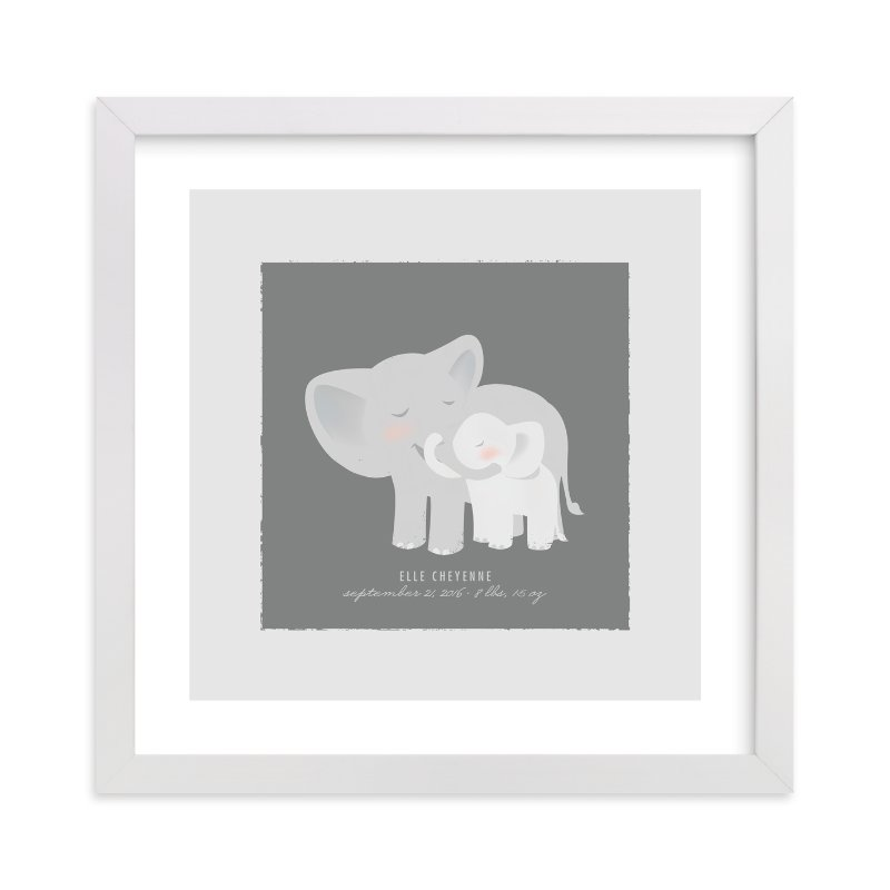 """""""A Mother's Love - Elephants"""" - Nursery Custom Art Print by Lori Wemple in beautiful frame options and a variety of sizes."""
