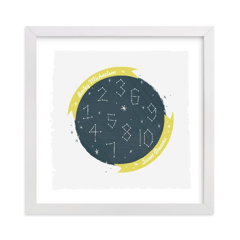 """Constellation Dreams"" - Nursery Custom Art Print by Kayla King in beautiful frame options and a variety of sizes."
