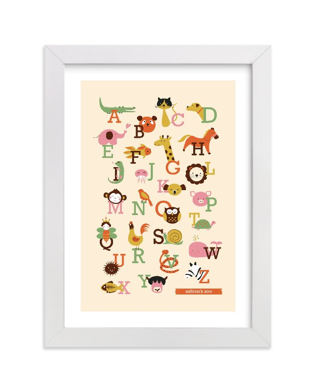 """Animal A to Z"" - Nursery Custom Art Print by Anais Lee in beautiful frame options and a variety of sizes."