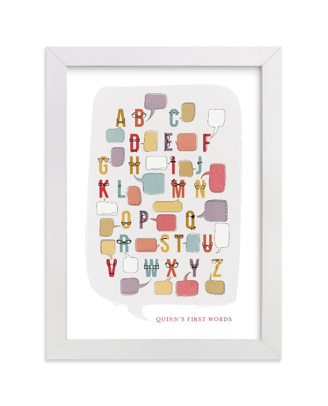 """I'm Soooo Smart "" - Nursery Custom Art Print by Frooted Design in beautiful frame options and a variety of sizes."
