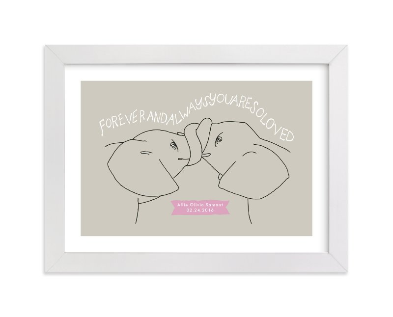 """Forever and Always"" - Nursery Custom Art Print by Annada Hypes in beautiful frame options and a variety of sizes."