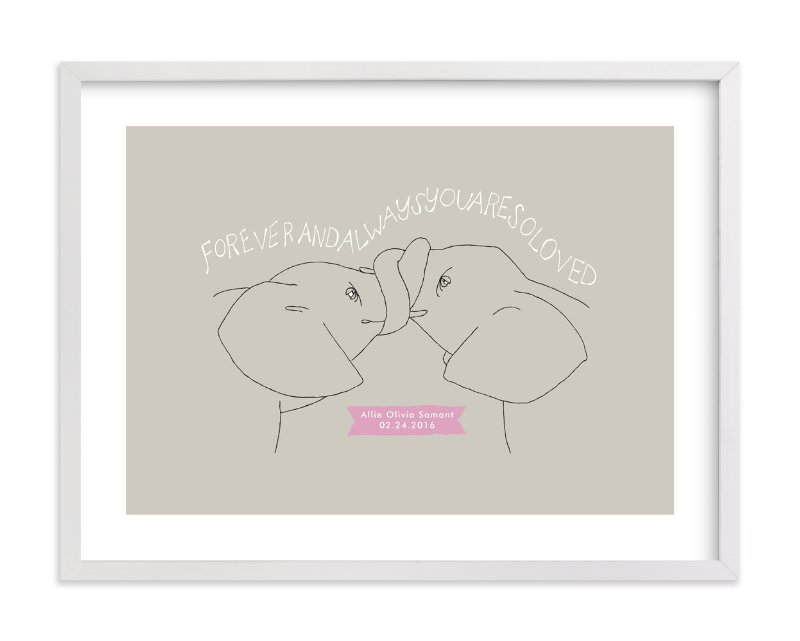 """""""Forever and Always"""" - Nursery Custom Art Print by Annada Hypes in beautiful frame options and a variety of sizes."""