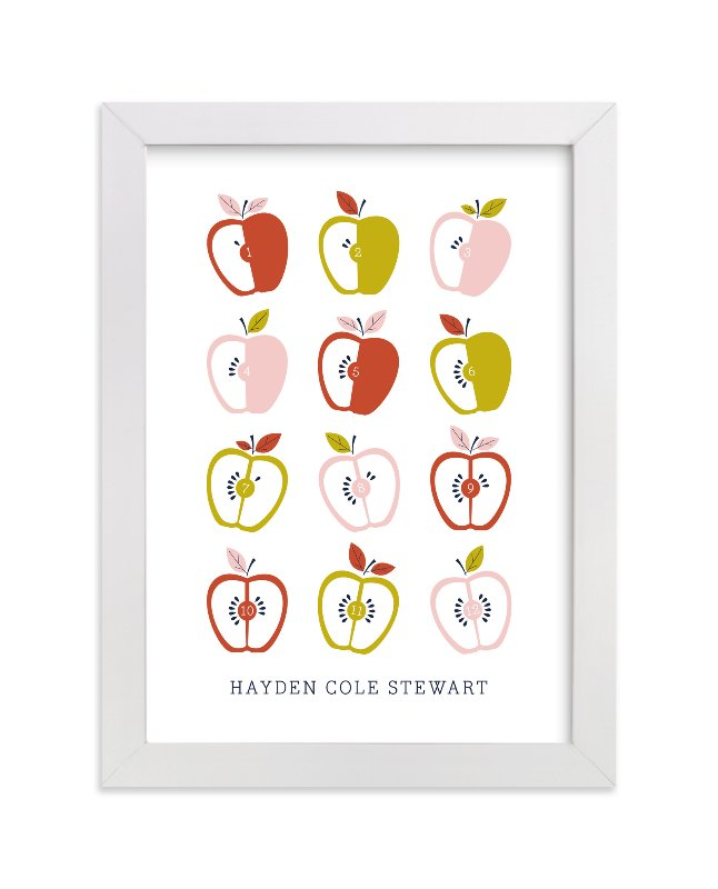 """Appleseed"" - Nursery Custom Art Print by Oscar & Emma in beautiful frame options and a variety of sizes."