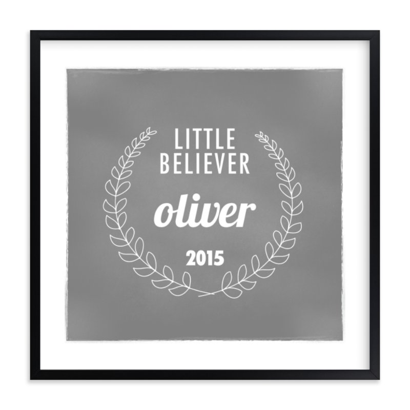"""""""Little Believer"""" - Nursery Custom Art Print by That Girl Studio in beautiful frame options and a variety of sizes."""