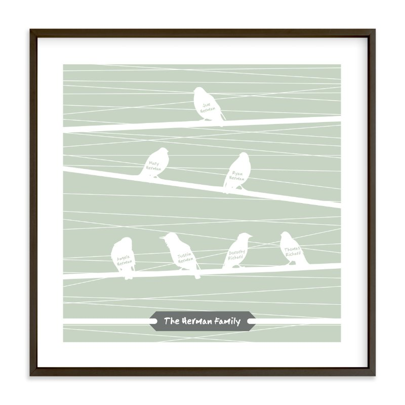 """""""Birds of a Feather Flock Together"""" - Nursery Custom Art Print by Serenity Avenue in beautiful frame options and a variety of sizes."""