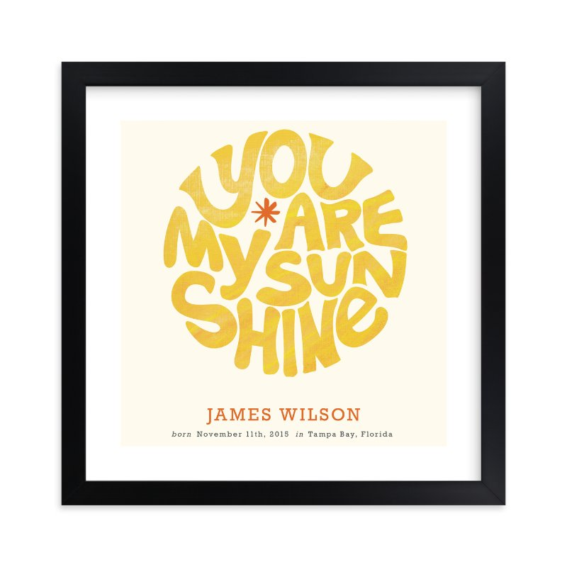 """Forever Sunshine"" - Nursery Custom Art Print by Carrie ONeal in beautiful frame options and a variety of sizes."