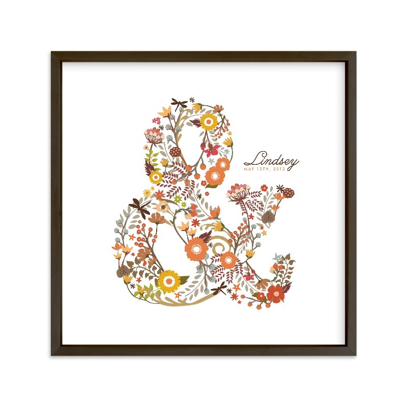 """""""Elegampersand"""" - Nursery Custom Art Print by Snow and Ivy in beautiful frame options and a variety of sizes."""