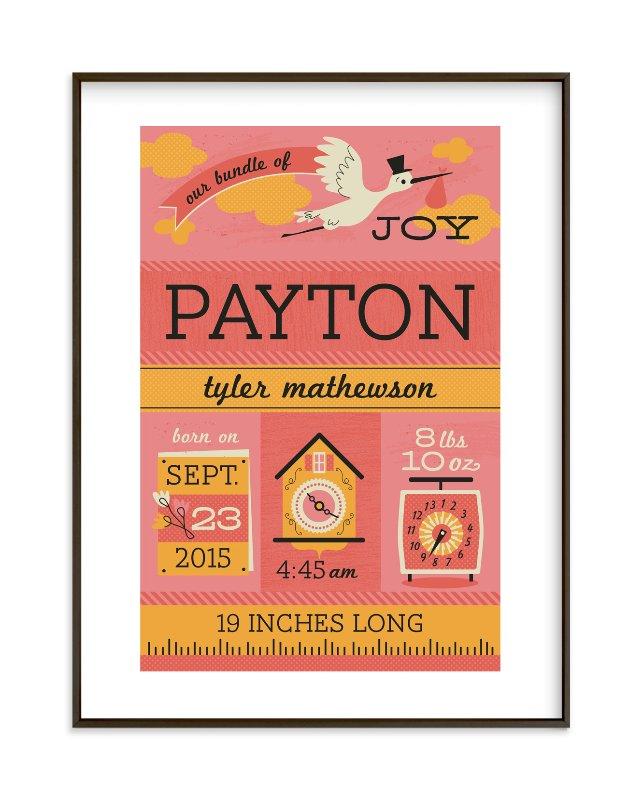 """Bundle of Joy"" - Nursery Custom Art Print by Tara Lilly Studio in beautiful frame options and a variety of sizes."