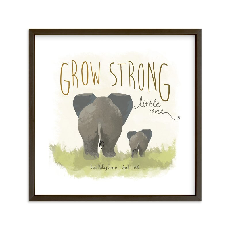 """""""Elephant Bums"""" - Nursery Custom Art Print by Rio Grange in beautiful frame options and a variety of sizes."""
