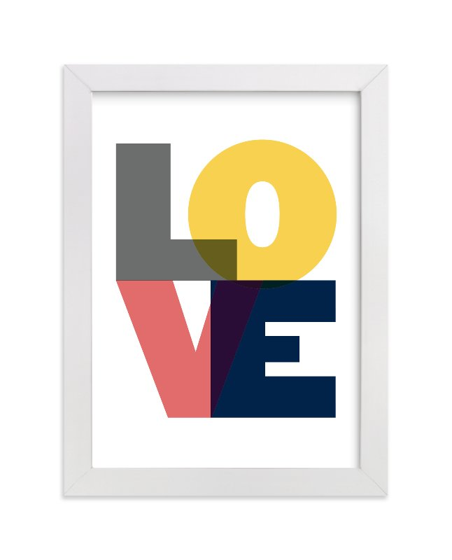 """""""Love"""" - Limited Edition Art Print by Max and Bunny in beautiful frame options and a variety of sizes."""