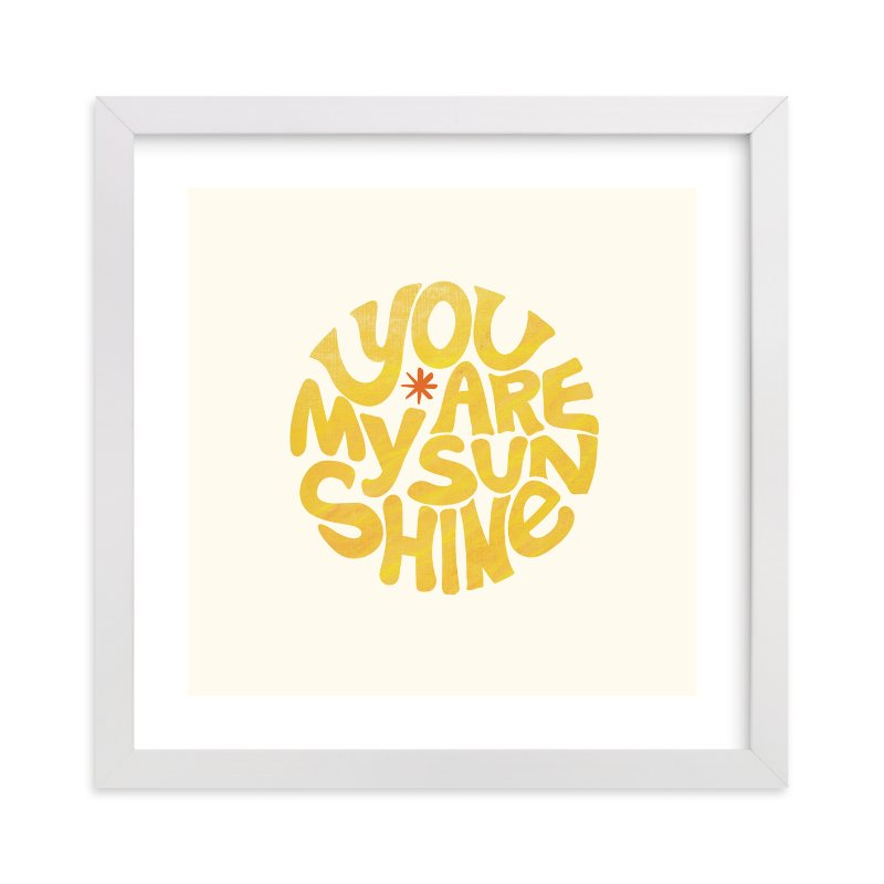"""Forever Sunshine"" - Limited Edition Art Print by Carrie ONeal in beautiful frame options and a variety of sizes."