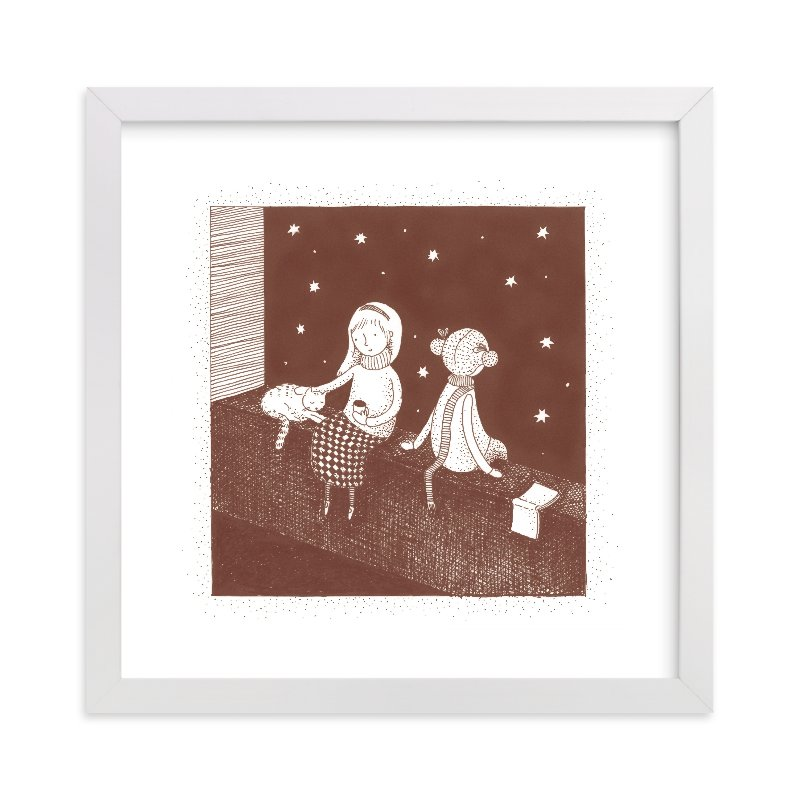 """""""Star Gazers"""" - Limited Edition Art Print by Maria Gromek in beautiful frame options and a variety of sizes."""