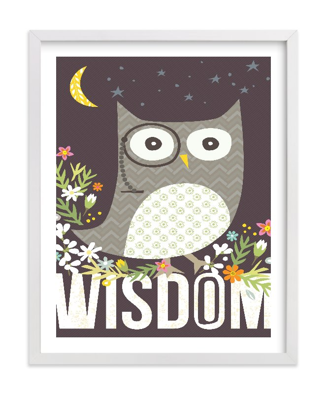 """""""Wisdom"""" - Limited Edition Art Print by Griffinbell Paper Co. in beautiful frame options and a variety of sizes."""