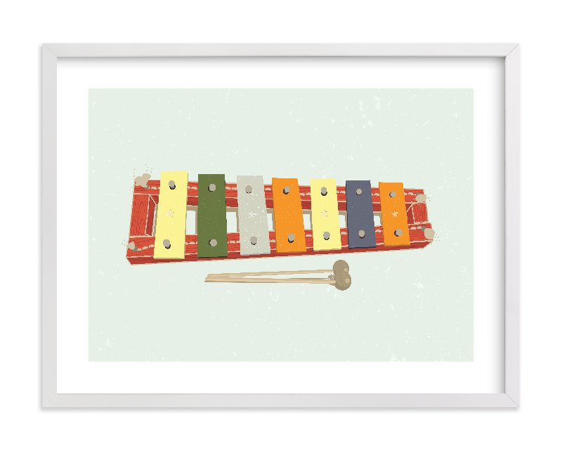 """""""Xylophone"""" - Limited Edition Art Print by Tyler Tea in beautiful frame options and a variety of sizes."""
