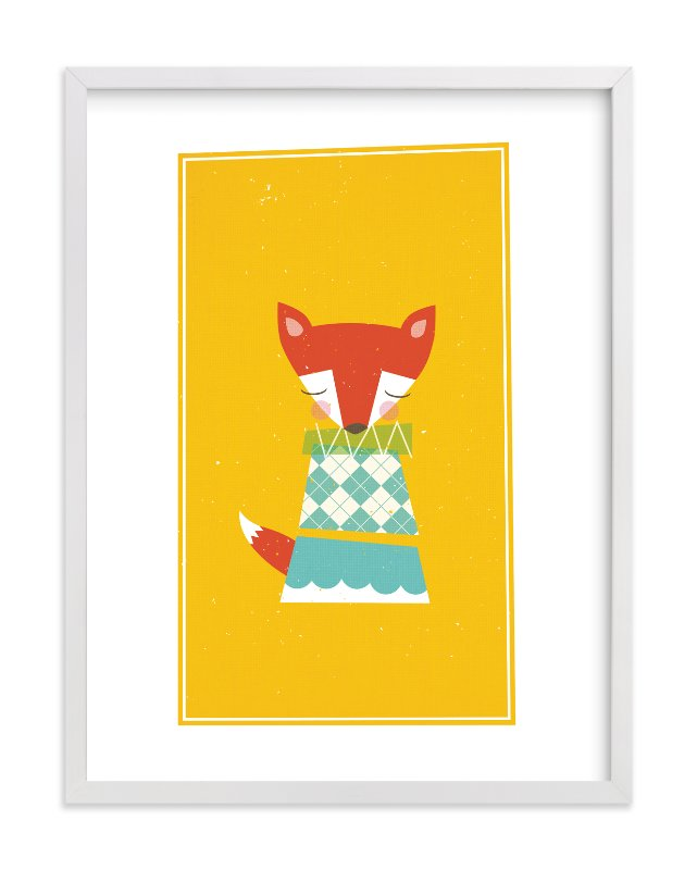 """""""Foxy"""" - Limited Edition Art Print by nocciola design in beautiful frame options and a variety of sizes."""