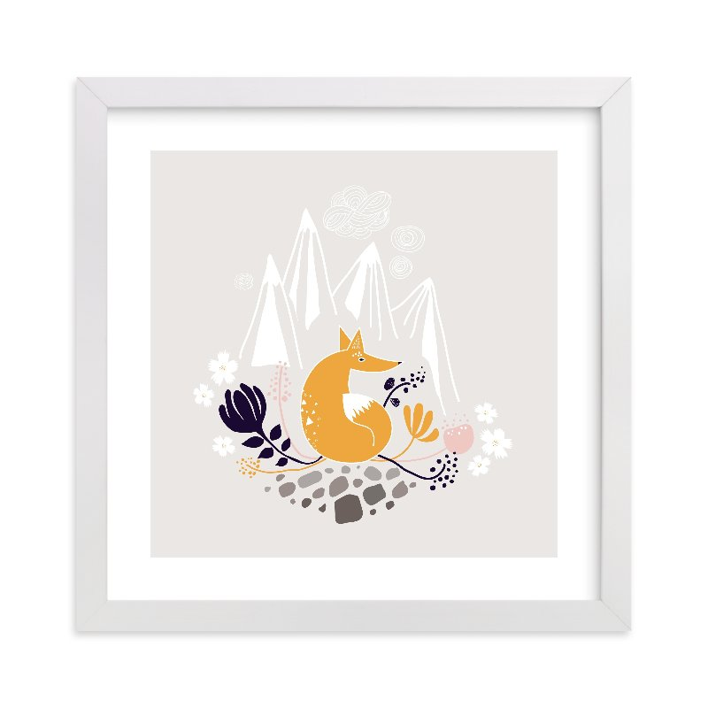 """Desert Fox"" - Limited Edition Art Print by Kayla King in beautiful frame options and a variety of sizes."