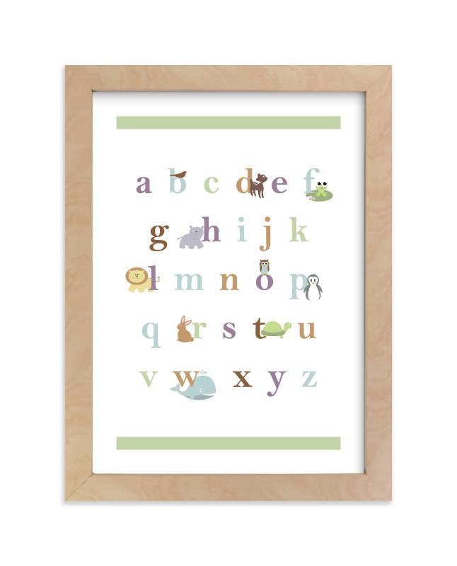 """""""Baby Animal Alphabet"""" - Limited Edition Art Print by BitsyCreations in beautiful frame options and a variety of sizes."""