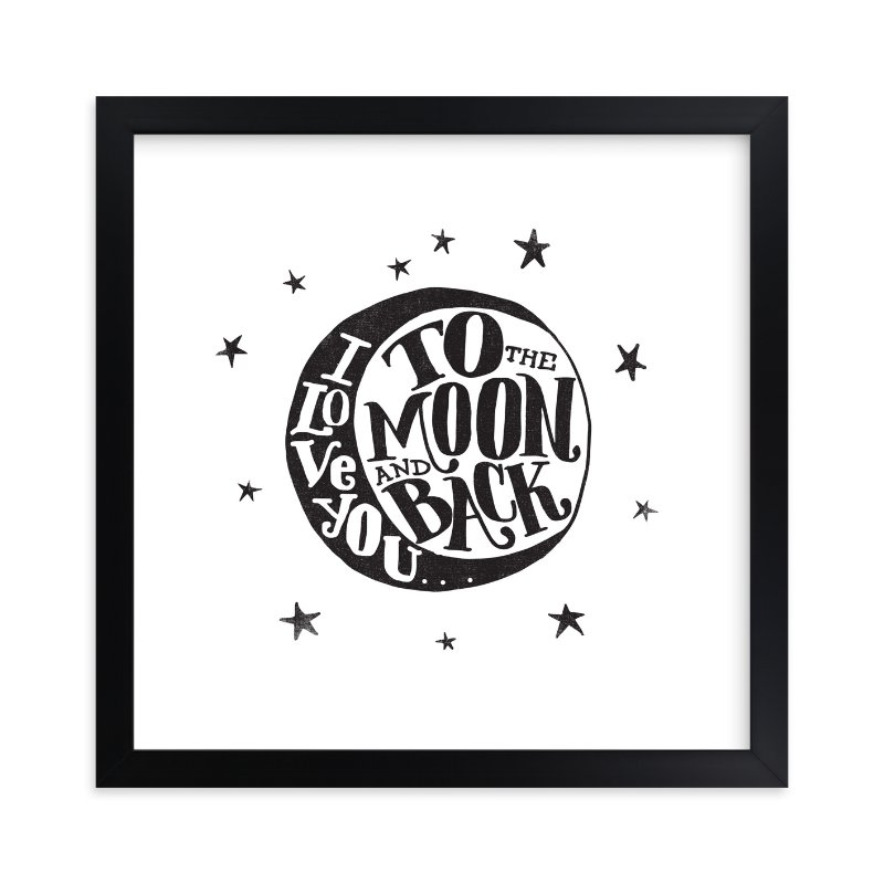 """""""...to the moon and back"""" - Limited Edition Art Print by Matthew Taylor Wilson in beautiful frame options and a variety of sizes."""