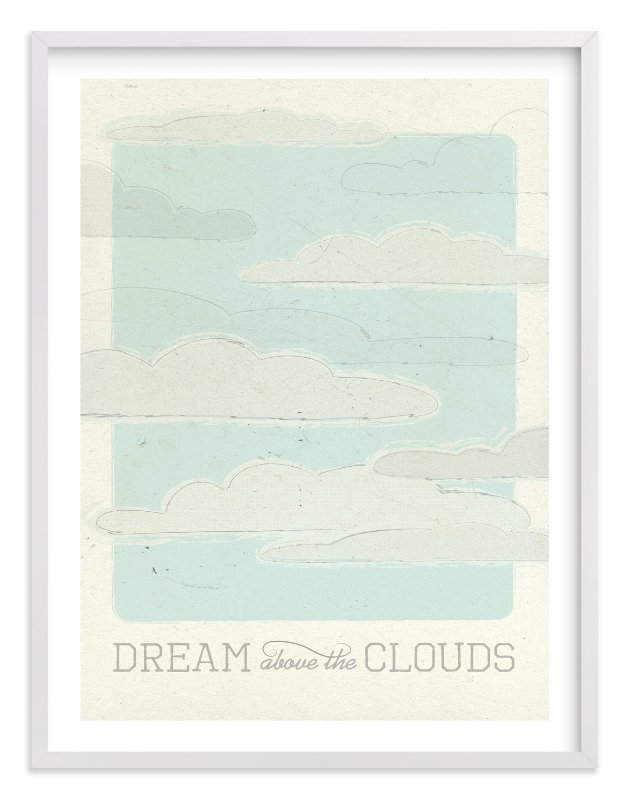 """""""Above the Clouds"""" - Limited Edition Art Print by Bleu Collar Paperie in beautiful frame options and a variety of sizes."""