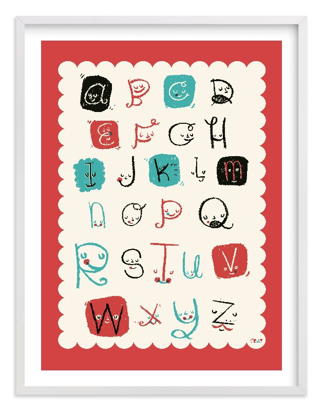 """""""ABC Friends"""" - Limited Edition Art Print by ERAY in beautiful frame options and a variety of sizes."""