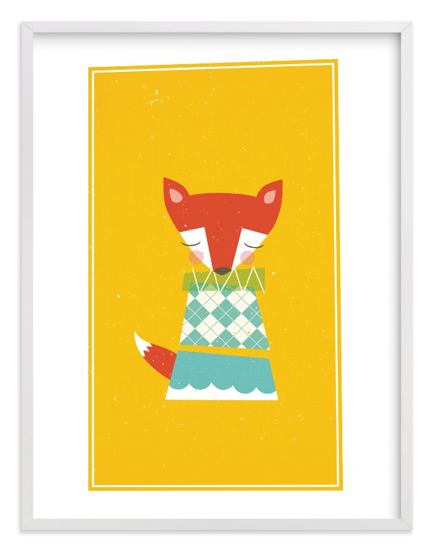"""Foxy"" - Limited Edition Art Print by nocciola design in beautiful frame options and a variety of sizes."