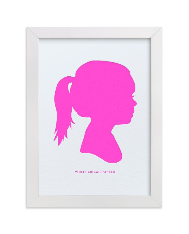 """Custom Silhouette Letterpress Art"" - Silhouette Letterpress Art by Minted in beautiful frame options and a variety of sizes."