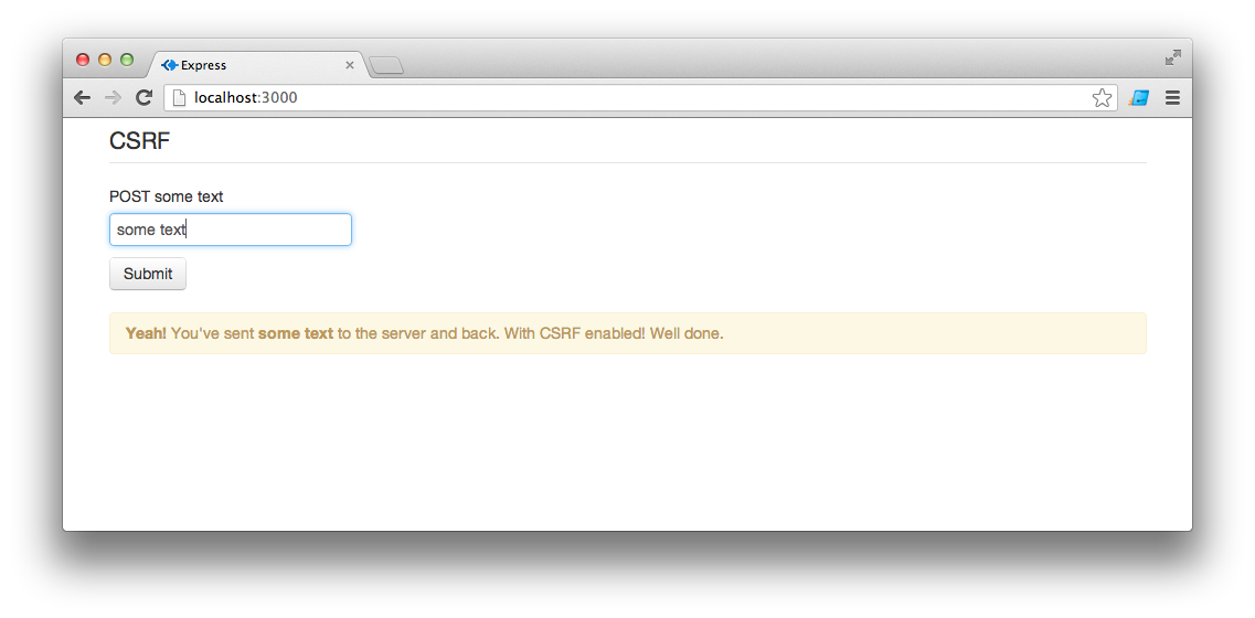 CSRF example for Express and AngularJS