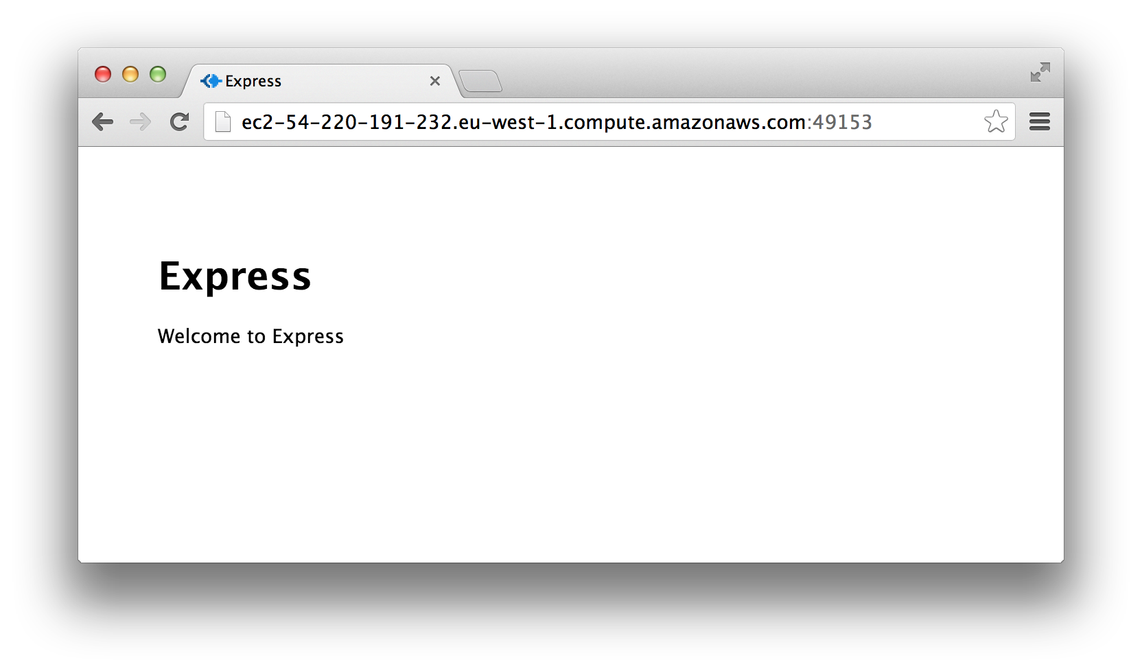 Express app running on AWS EC2 instance
