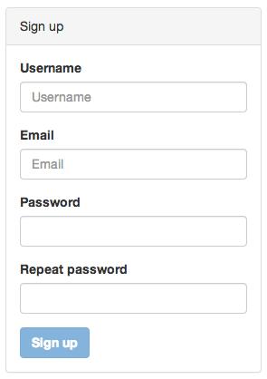 Signup form built on top of Bootstrap v3